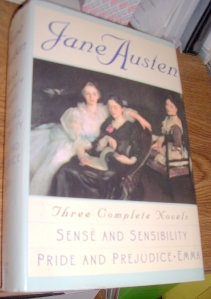 Hardcover, 3 Jane Austen novels, SOLD for $2.99 plus $4.30 shipping