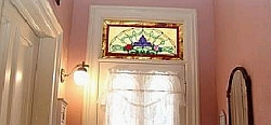 Stained-glass transom window, www.deansstainedglass.com